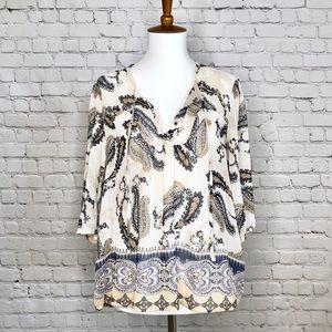 Petticoat Alley Paisley Print Blouse